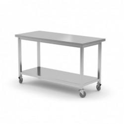 Stół jezdny z półką