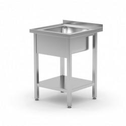 Stół ze zlewem i półką