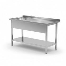 Stół ze zlewem i półką -...