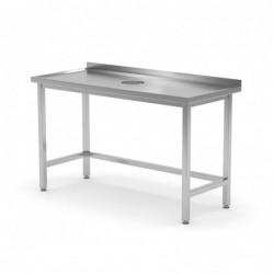 Stół przyścienny z otworem...