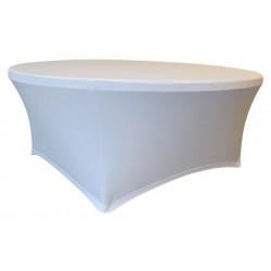Pokrowiec na stół okrągły śr. 180,3 cm biały