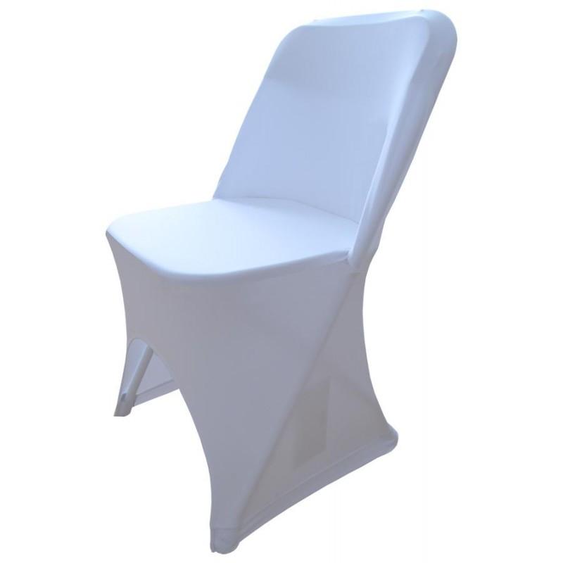 Pokrowiec na krzesło biały