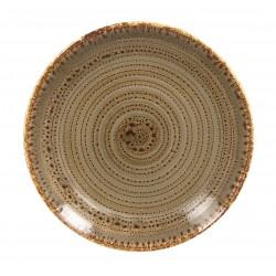 Talerz płaski 15 cm Twirl brązowy