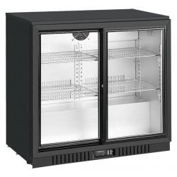 Barowa szafa chłodnicza  | chłodziarka podblatowa RQ-208SC | 210l | drzwi przesuwne