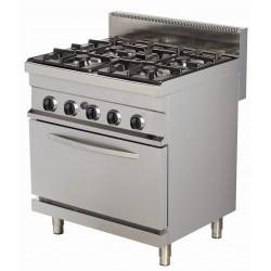 Kuchnia gazowa z piekarnikiem gazowym | 4-palnikowa | RQGR722 | 24kW | linia 700