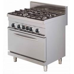 Kuchnia gazowa z piekarnikiem elektrycznym | 4-palnikowa | RQGR722E | 24kW | linia 700