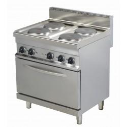Kuchnia elektryczna  ER722 | 4-palnikowa | z piekarnikiem elektrycznym | 800x700x900 | linia 700