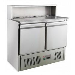 Stół chłodniczy 2-drzwiowy RQPS900-H | z blatem granitowym | 900x700x1075 mm