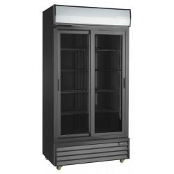 Szafa chłodnicza przeszklona RQ1100SL-BLACK | 1000l | drzwi przesuwne | czarna (SD1001SL)