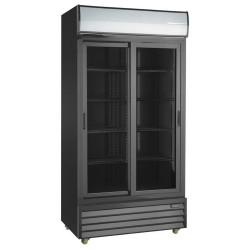 Szafa chłodnicza przeszklona RQ801SL-BLACK | 800l | drzwi przesuwne | czarna (SD801SL)