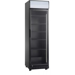 Szafa chłodnicza przeszklona SD420BE   386 l   czarna (RQ419-BLACK)